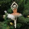Ballerina kobber med fjer skørt