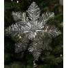 Lametta topstjerne- stor sølv