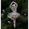 Ballerina sølv med fjerskørt