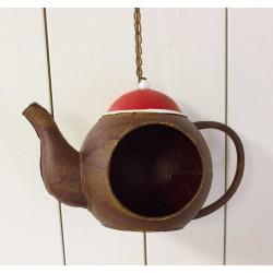 Hænge tepotte med rød top