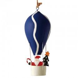 Julemand i blå luftballon
