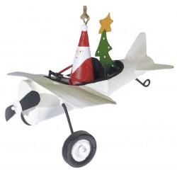 Julemand i hvid flyvermaskine