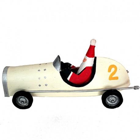 Julemand i hvid racer