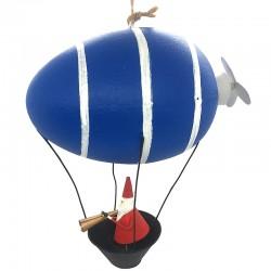 Julemand i blå zeppeliner