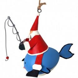 Julemand på en hval