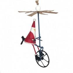 Julemand på helikoptercykel