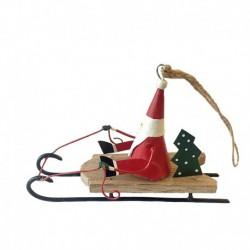 Julemand på slæde