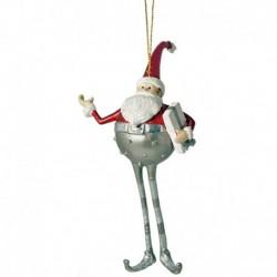 Julemand med pakke- sølv og rød
