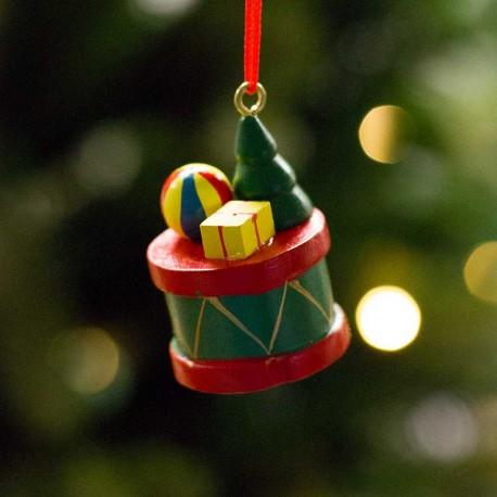 Tromme med juletræ