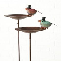 Fuglebad m. rød fugl