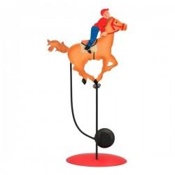 Bordvippe med jockey på sin hest
