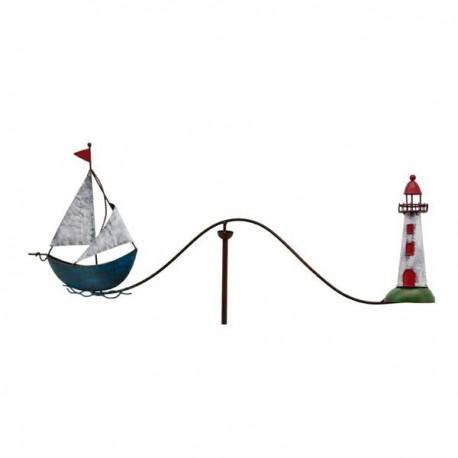 Vindspil med skib og fyr
