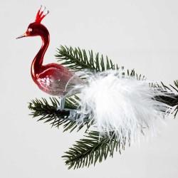 Stor halsfugl rød og sølv