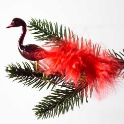 Glasfugl- halsfugl- rød