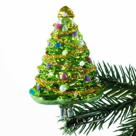 Glaskugle- Juletræ- klips