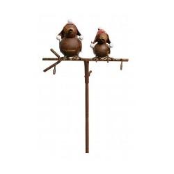 Foderstang med to røde fugle