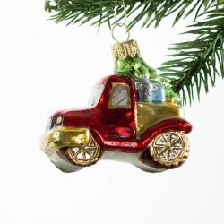 Glaskugle- Bil- Pick-up- Juletræ