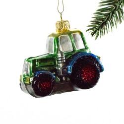Glaskugle- Traktor- Multifarvet
