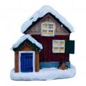 julehus- Svensk hytte- rød