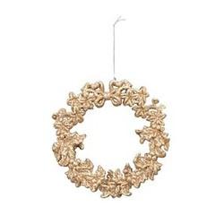 Glimmer- Julekrans- guld