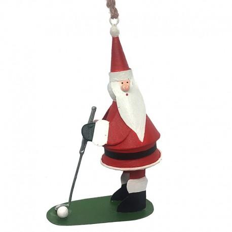 Julemand spiller golf