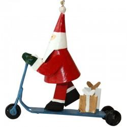 Julemand på løbehjul
