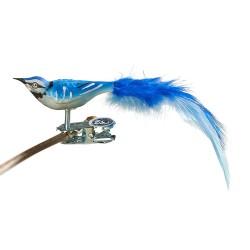 Glasfugl- Blå skovskade- Mini