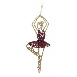 Ballerina i guld/ Bordeaux