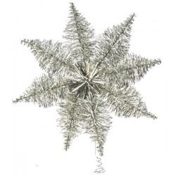Lille sølv lametta topstjerne