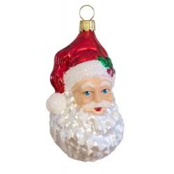 Glaspynt- Julemandens hoved