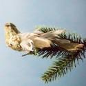 Julepynt- Fugl-  Mønster- Brun