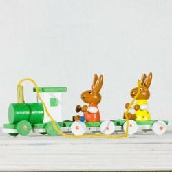 Påske- Hare- Træ- Tog