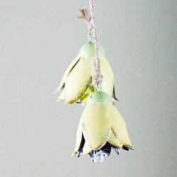 Blomst- Dobbelt- Gul