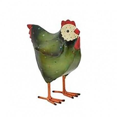 Høne- Grøn med hvidt hoved