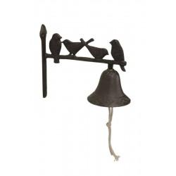 Klokke- Støbejern- Fugle