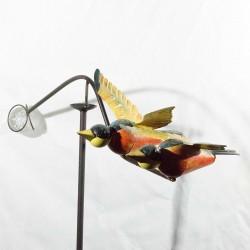 Vindspil med farvede fugle- Lys