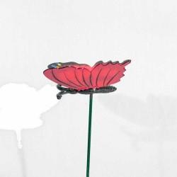 Sommerfugl- Stik- Rød
