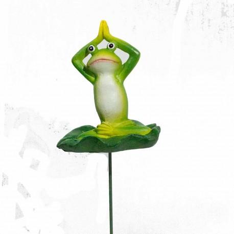 Frø- Yoga- Stik- arme op