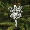 Engel med ønskestav i hvid