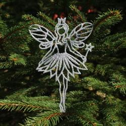 Engel med ønskestav i sølv