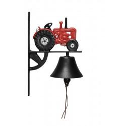 Traktor klokke- Rød