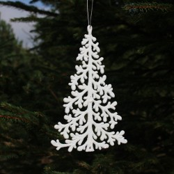 Juletræ i hvid