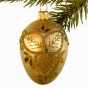 Glaskugle- Fabergé æg- guld med trekløver