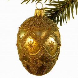 Glaskugle- Fabergé æg- Guld- Tung gardin