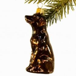 Glaskugle- Hund- Labrador- Brun