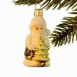 Glaskugle- Julemand- Hvid- Juletræ