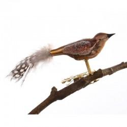 Fugl i kobber farver - Retro julepynt