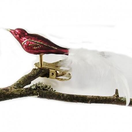 Glasfugl- Fugl bordeaux- mini