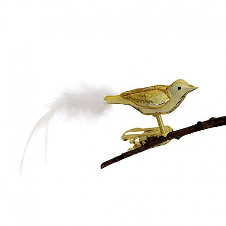 Fugl guld - Retro julepynt