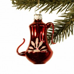 Glaspynt- Kaffekande- Rød- Glans